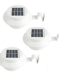 3Pcs Solar Powered Gutter Door Fence Wall LED Light Outdoor Garden Lighting