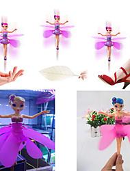muñecos de control de vuelo de hadas muñeca inducción infrarroja del usb de regalo de Navidad recargable juguete (color al azar) vuela