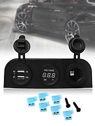 Автомобиль прикуривателя 12v розетки USB-адаптер зарядное устройство с вольтметра