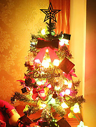 60cm Plastic Christmas Tree Set With Led Light Ornament Gift For Holiday Home Decoration