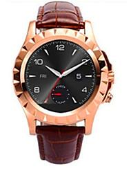 T2  Leather Watchband Waterproof Bluetooth Smart Wrist Watch For Smartphone