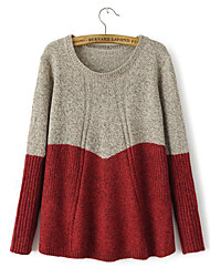 Women's Fashion Casual Preppy Style Wool Cashmere Pullover Knit Sweater