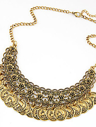 European Style Fashion Trend Wild Metal Coin Necklace