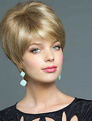 Enchanting Human Virgin Remy Hand Tied Top Short Straight Female Capless Wig