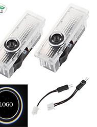 Zweihnder ® USA Stock Center 2pcs LED Car Door Shadow Projection Lamp Welcome Light Laser Emblem Logo Lamps