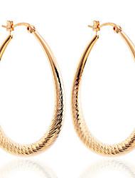 Earring Drop Earrings / Hoop Earrings Jewelry Women Party / Daily / Casual Silver Plated / Gold Plated 2pcs