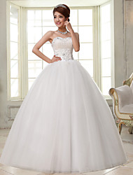 Ball Gown Wedding Dress Simply Sublime Floor-length Sweetheart Lace Satin Tulle with Beading