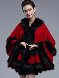 Wedding Faux Fur / Imitation Cashmere Capes Sleeveless Wedding  Wraps / Fur Coats / Hoods & Ponchos