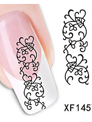 1 PCS 3D Water Transfer Printing Nail Stickers XF1457