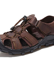 Men's Shoes Outdoor / Office & Career / Casual Leather Sandals Brown