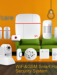 Home Security Alarm System with Door Sensors Medical Call Button And Motion Leakage Gas Smoke Detectors