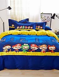 moda jiajia impresión hermosa de cuatro piezas traje de ropa de cama