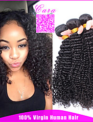 Indian Curly Virgin Hair CARA Hair Products Unprocessed Indian Virgin Hair Kinky Curly 3Pcs Human Hair Weaves
