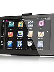 7 pouces voiture navigation GPS Bluetooth AV-IN 128 Mo de RAM 4 Go avec carte Europe de l'Ouest
