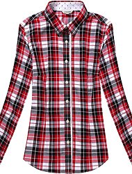 Women's Long Sleeve Check Shirts