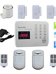Burglar Voice LCD GSM Alarm Systems Android For Home Security Safety with 120 Wireless & 2 Wired Alarma Zones
