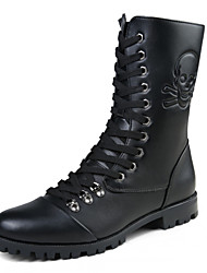 Men High-top Leather Boots Snow Boots