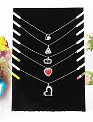 Black Velvet Necklace Easel Jewelry Displays 19*7*28cm