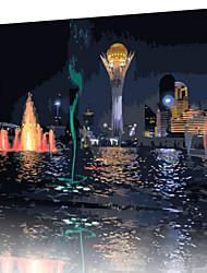 DIY digitales Ölgemälde Frame Familie Spaß Malerei alle von mir Nachtansicht x5426