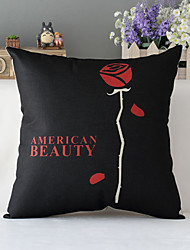"43cm*43cm 17""*17"" Poster American Beauty Cotton / Linen Cotton&linen Pillow Cover / Throw Pillow With No Insert"