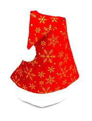 Pleuche flat cap Santa Claus hat, color random