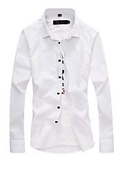 Chemises informelles ( Coton ) Informel Carré à Manches longues pour Homme