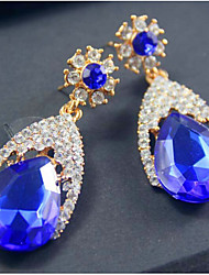 Stud Earrings Cubic Zirconia Simulated Diamond Alloy Fashion Screen Color Jewelry 2pcs