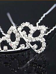Rich Long Diamond Flower Hair Clip Single