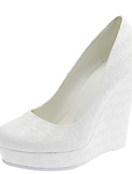 Women's Wedding Shoes Round Toe Heels Wedding / Dress White