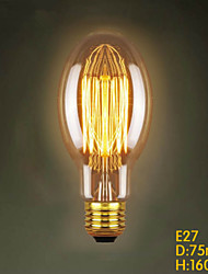 E27 40W  C75 Straight Wire Restaurant Shopping Malls Edison Antique Retro Decorative Lighting Bar