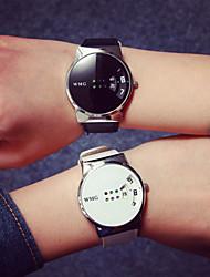 Hombre Reloj de Pulsera Reloj Casual Digital Resistente al Agua Reloj Casual PU Banda Cool Negro Blanco Blanco Negro