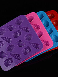 DIY Silicone The Sea  World Of Conch Shells  Cake Mold Chocolate Mold   Random Color