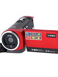 "16x zoom dvr 16mp 2,7 ""TFT LCD de pantalla HD 720p cámara mini cámara de vídeo digital negro / rojo"
