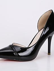 Women's Shoes Stiletto Heel Heels / Pointed Toe / Closed Toe Heels Dress Black / Purple / Silver / Gray