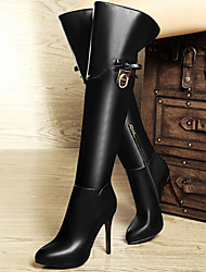 Women's Shoes Synthetic Stiletto Heel Snow Boots / Fashion Boots / Motorcycle Boots Boots Party & Evening / Casual Black