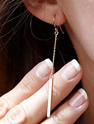 Tropfen-Ohrringe Aleación Simple Style Modisch Gold Silber Schmuck 2 Stück