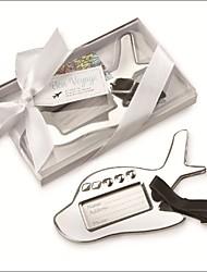 Acciaio inox Bomboniere Pratiche-1 Etichette per il bagaglio Asiatico / Classico Argentato 12*7.5*2 cm Nastri