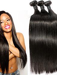 """mejor venta sin procesar recta brasileña 3bundles cabello virgen / lot prima virginal del pelo humano 8 """"-30"""""""