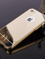 Назначение iPhone 8 iPhone 8 Plus Кейс для iPhone 5 Чехлы панели Покрытие Зеркальная поверхность Задняя крышка Кейс для Сплошной цвет