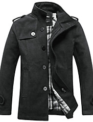 Fall and winter clothes coat male British business casual slim cardigan coat collar windbreaker single breasted