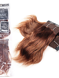 """anna onda natural indiano extensões de cabelo 2pcs 8 """"cabelo humano macio virgem tece # 4 do cabelo pacotes de 90g / pack"""