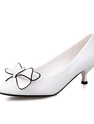 Women's Shoes Low Heel Heels / Pointed Toe / Closed Toe Heels Dress Black / White