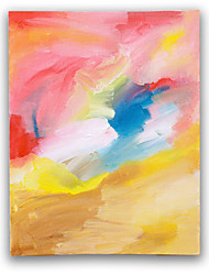 IARTS®Abstract Colorful Brush Handmade Painting Colorful Framed Oil Painting
