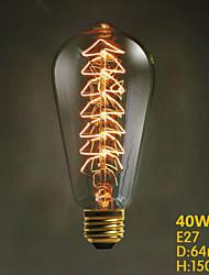 ST64 40W 220V-240V Creative Christmas Tree Decorative Incandescent Light Bulb Edison Light Source