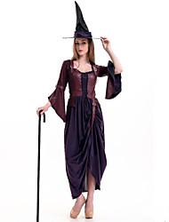 Pour Halloween - Sorcier - Féminin - Halloween / Noël / Carnaval / Nouvel an / Fête d'Octobre - Top / Pantalon / Chapeau