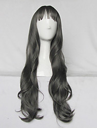 Japanese Harajuku Style Long Curly Grey Daily Sweet Lolita Wig