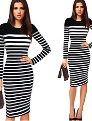 Dolce Women's Plus Size Vintage/Sexy/Bodycon/Casual/Party/Long Sleeve Winter Dresses