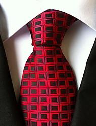 Men Wedding Cocktail Necktie At Work Red Black Tie