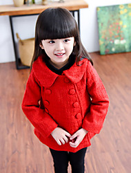 Girl's Cotton Winter Fashion  Shitsuke Double-Breasted  Coat