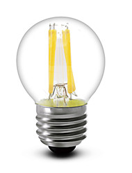 1 pcs SHENMEILE E26/E27 4W 4 COB 400 LM Warm White G45 edison Vintage LED Filament Bulbs AC 220-240 V